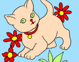 Desenho Gatito pintado por renata