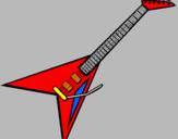 Desenho Guitarra elétrica II pintado por Dilan