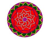 Desenho Mandala 1 pintado por mandala