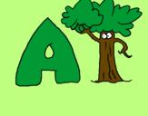 Desenho Árvore pintado por Letra A