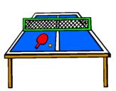 Desenho Tênis de mesa pintado por Ariane