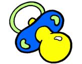 Desenho Chupeta pintado por cha de bebe