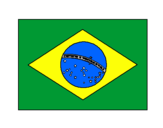 Desenho Brasil pintado por Bandeira do Brasil