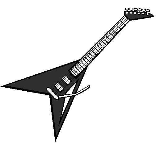 desenho de guitarra elétrica ii pintado e colorido por usuário não