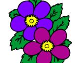 Desenho Flores pintado por flores colorida