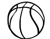 Desenho Bola de basquete pintado por bola