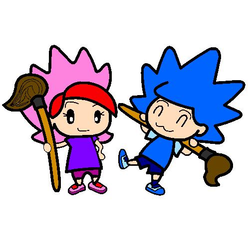 Desenho Terebintina e Colorido pintado por amizade