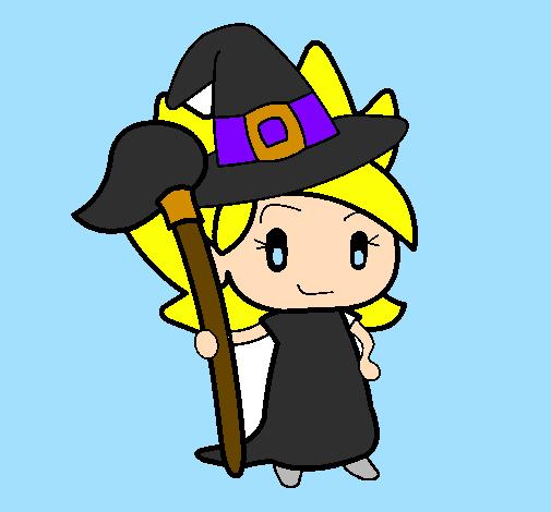 Desenho Terebintina bruxa pintado por bruxinha do bem