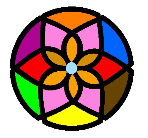Desenho de Mandala 44 pintado e colorido por Usuário não