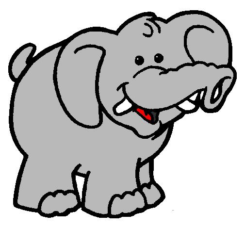 desenho de elefante pintado e colorido por usuário não registrado o