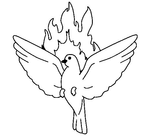 desenho de pomba pentecostal pintado e colorido por usuário não