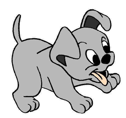 desenho de cachorro pintado e colorido por usuário não registrado o