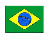 Desenho Brasil pintado por Bandeira do Brasil Dudu