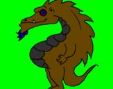 Desenho Dragão barrigudo pintado por papai45