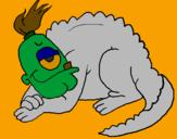 Desenho Reptil cíclope pintado por papai45
