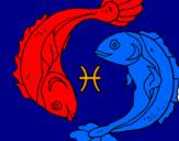 Desenho Pisces pintado por Ludimilla Christine