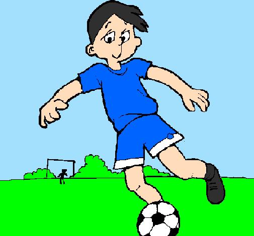 Desenho De Jogar Futebol Pintado E Colorido Por Usuário Não