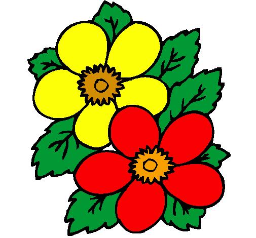 desenho de flores pintado e colorido por usuário não registrado o