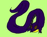 Desenho Crocodilo com cauda grande pintado por papai45
