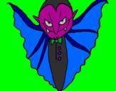 Desenho Vampiro aterrorizador pintado por pedro