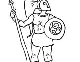 Desenho Guerreiro troiano pintado por gregos
