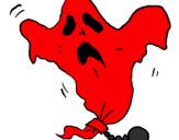 Desenho Fantasma acorrentado pintado por vinicius