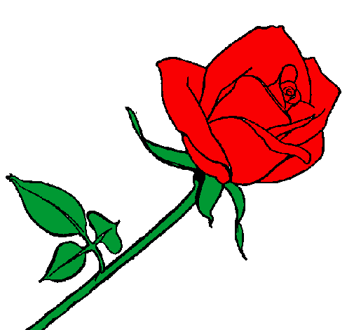 Desenho De Rosa Pintado E Colorido Por Usuário Não Registrado O Dia