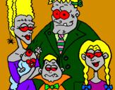 Desenho Família de monstros pintado por pedro