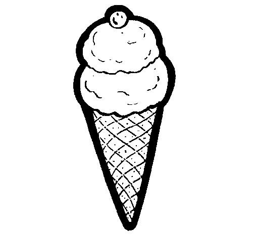 desenho de cone de gelado pintado e colorido por usuário não