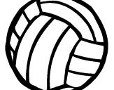 Desenho Bola de voleibol pintado por volei