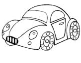 Desenho Carro de brinquedo pintado por fusca