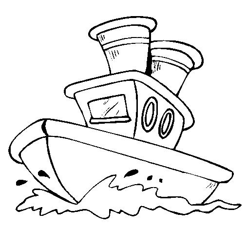 Barco no mar
