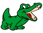 Desenho Crocodilo pintado por JACARÉ