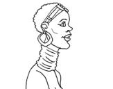 Desenho Africana pintado por Homem africano