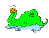 Desenho Monstro gelatina pintado por Lesma