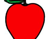 Desenho Maçã pintado por maça