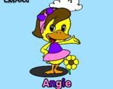 Desenho Angie pintado por roberta