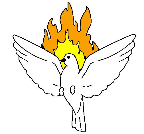 Fabuloso Desenho de Pomba Pentecostal pintado e colorido por Usuário não  TM23