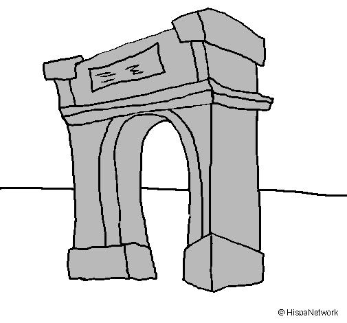 Desenho de Arco do triunfo pintado e colorido por Usuário não ...