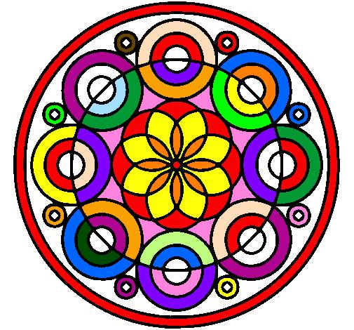 Desenho de Mandala 35 pintado e colorido por Usuário não