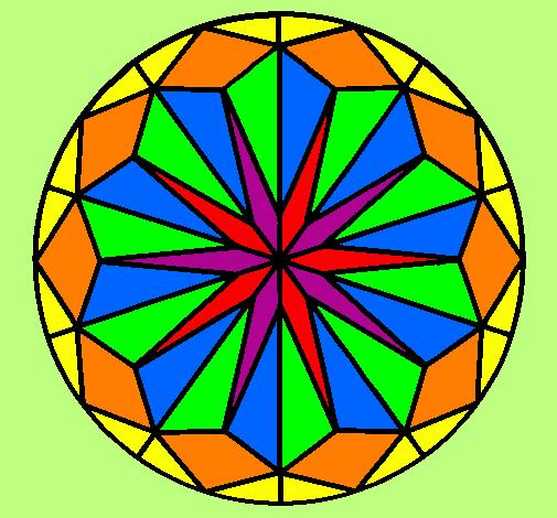 Desenho de Mandala 42 pintado e colorido por Usuário não