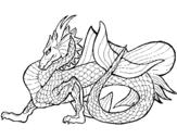 Desenho Dragão de mar pintado por matheus