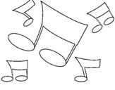 Desenho Notas musicais pintado por kaka