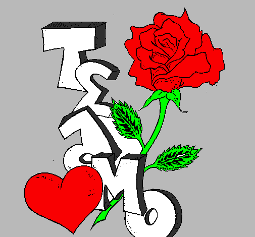 Desenho De Eu Te Amo Ii Pintado E Colorido Por Usuário Não