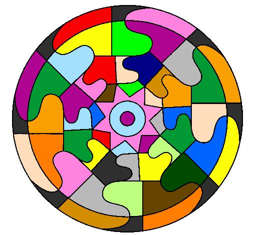 Desenho Mandala 31 pintado por Futurista