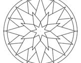 Desenho Mandala 28 pintado por iolanda