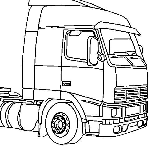 desenho de camião pintado e colorido por usuário não registrado o