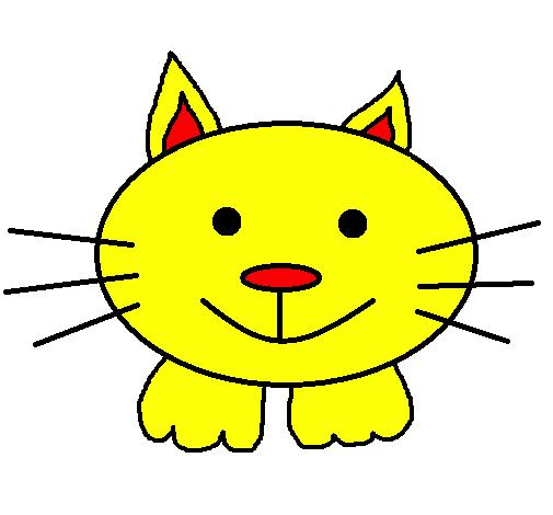 desenho de gatito 3 pintado e colorido por usuário não registrado o