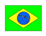 Desenho Brasil pintado por mariana