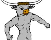 Desenho Cabeça de búfalo pintado por boi